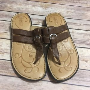 Born Leather Thong Flip Flops